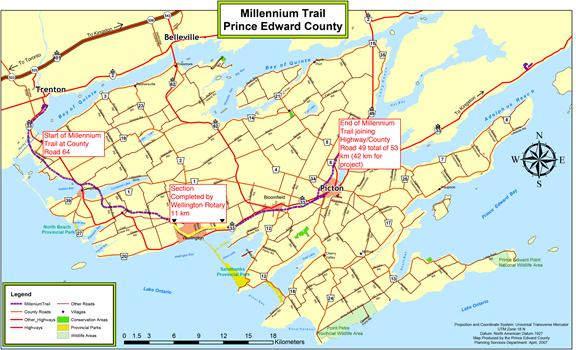 Millenium Trail Map